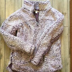 Sherpa fleece pullover! Super soft!